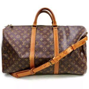 🚀🍾Louis Vuitton Monogram Keepall Bandouliere 50